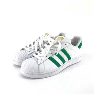 best service 98e25 60317 Adidas | Superstar Originals | Green Stripes NWT